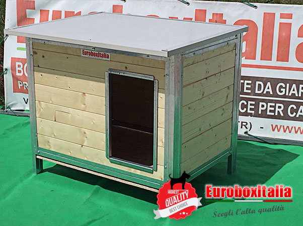Cuccia in legno per cani 110x70x70 for Cucce in coibentato